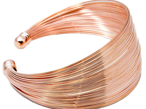 Rose gold wire link