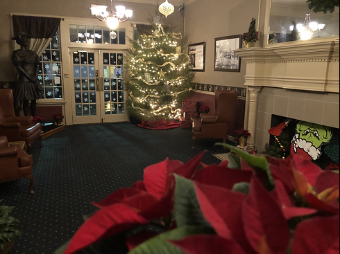 Christmas in the Commodore Hotel Lobby