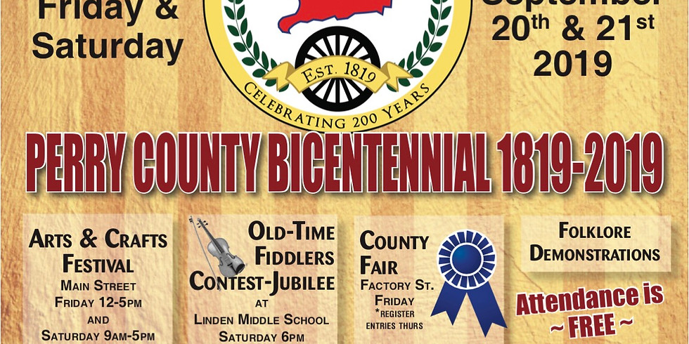 Arts & Craft Festival during Perry County's Bicentennial