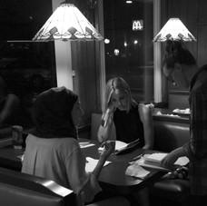 Hana Chamoun, Leslie Bibb and director Claire Fowler