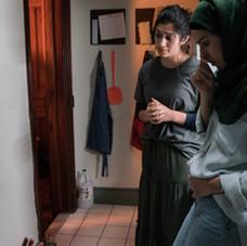 Hana Chamoun, Jessica Damouni and director Claire Fowler
