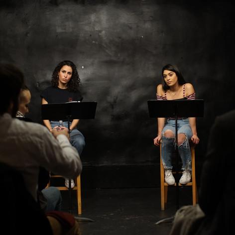 Hana Chamoun and Jessica Damouni OUR HOUSE Staged Reading