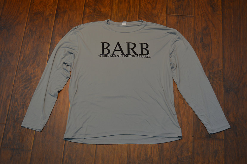 Silver Performance Long Sleeve Fishing Shirt
