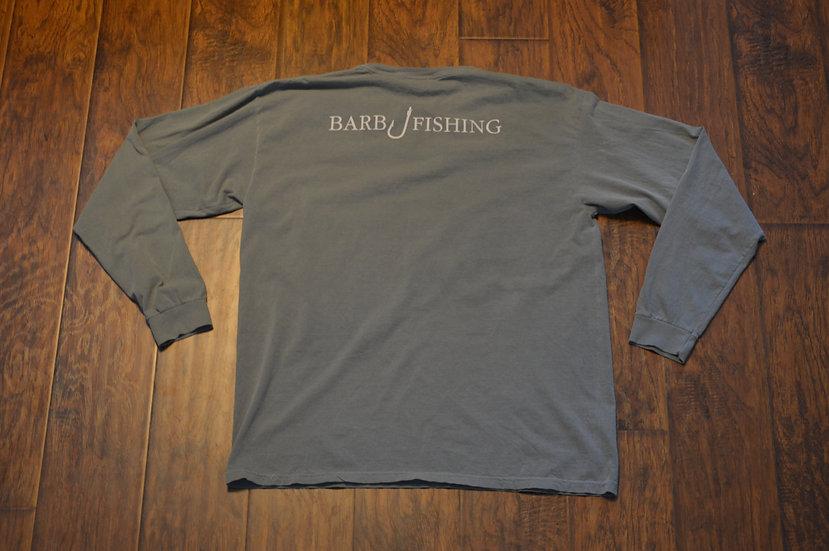 Gray Classic Logo Long Sleeve Shirt with Pocket