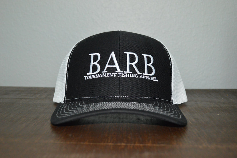 Black and White Snapback Structured Hat