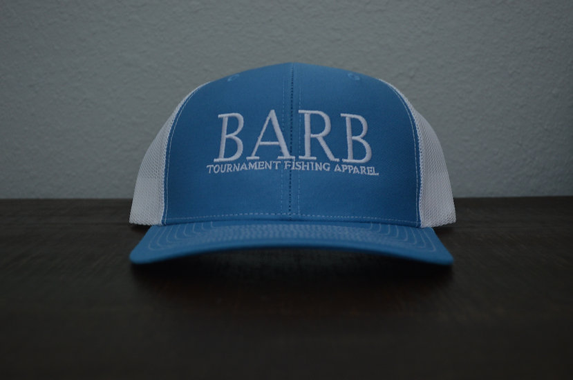 Light Blue and White Snapback Structured Hat