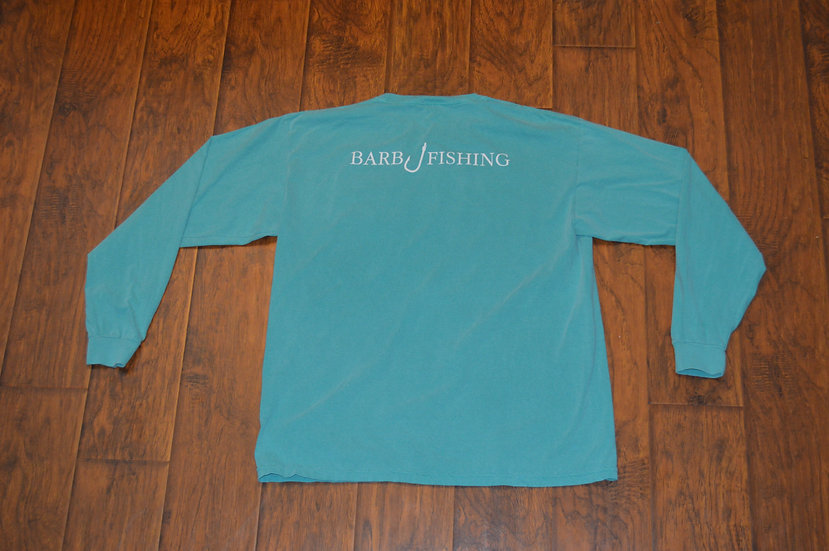 Seafoam Classic Logo Long Sleeve Shirt with Pocket