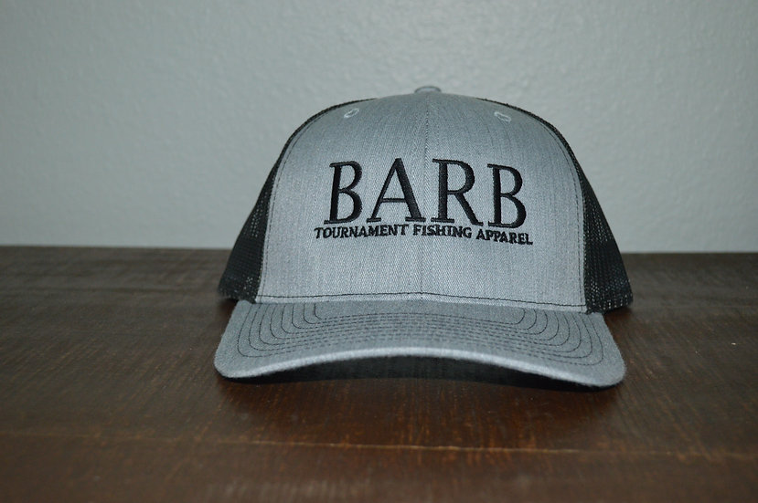 Heather Gray and Black Snapback Structured Hat