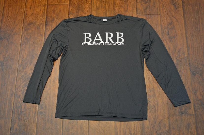 Dark Gray Performance Long Sleeve Fishing Shirt