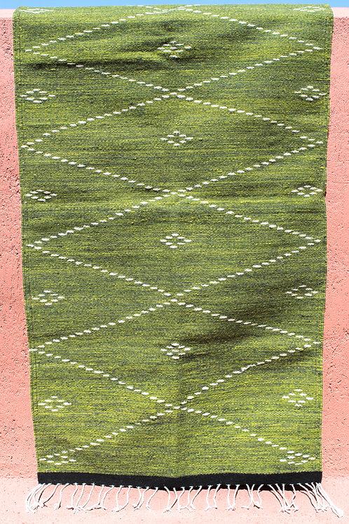 Green Rug with Diamonds