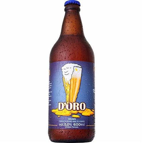 Cerveja Irmãos Ferraro D'oro 600 ml