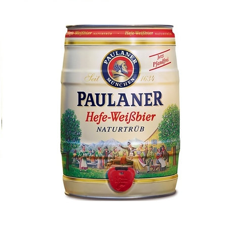 Cerveja Paulaner Hefe-Weissbier Barrilete 5 Litros