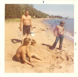 Sunken Barge Beach 1971