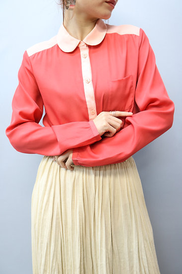 design blouse / pink red