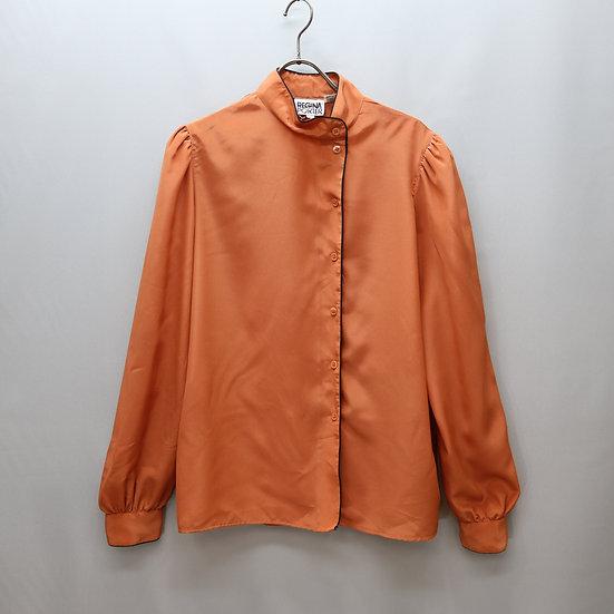 design blouse / smoke orange