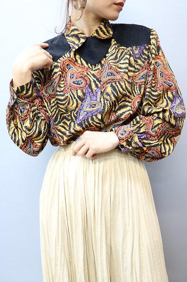 plint design blouse / paisley × tiger