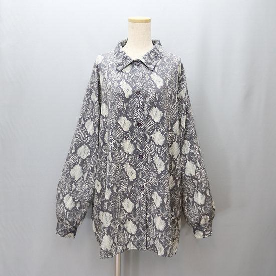 print design blouse / snake