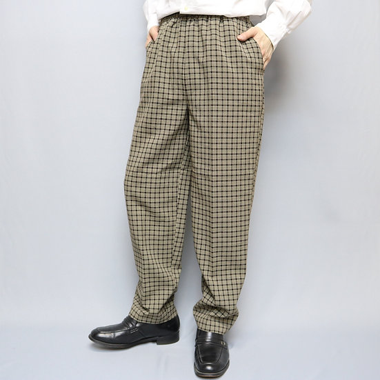 design pants  /BRN BLK