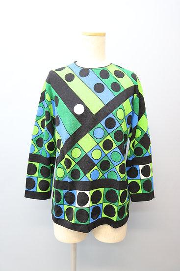 print design tops / green