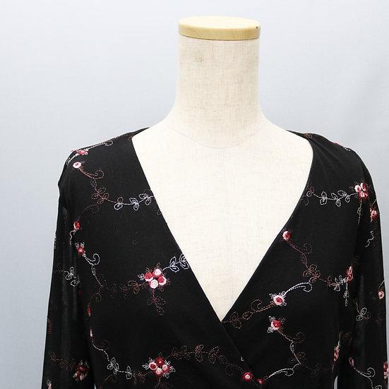 see-through design tops / black
