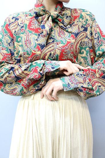 ribbon design shirt / paisley