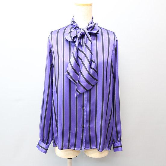 ribbon tie design blouse / purple