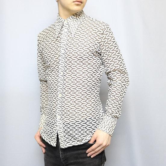 design shirts  / WHT BLK