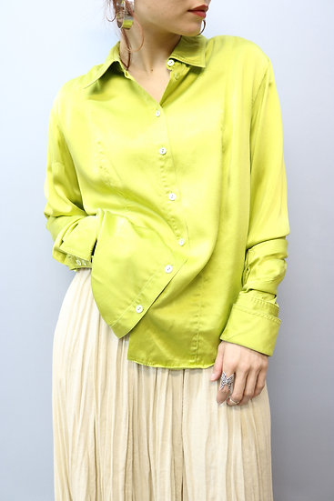 design blouse / neon green