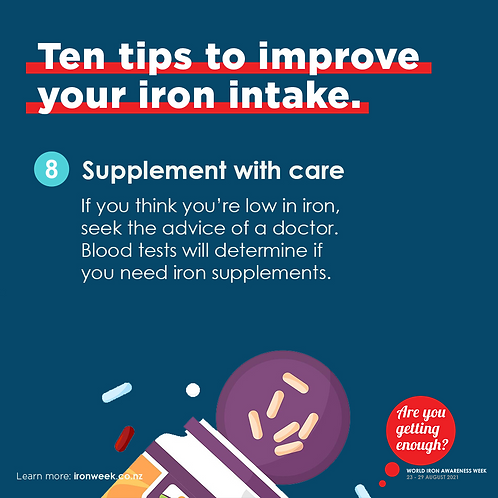 Supplement with care