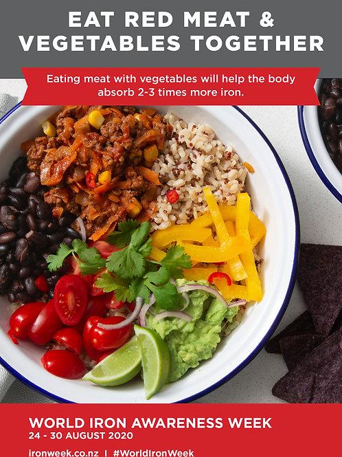 Eat Red Meat & Vegetables Together