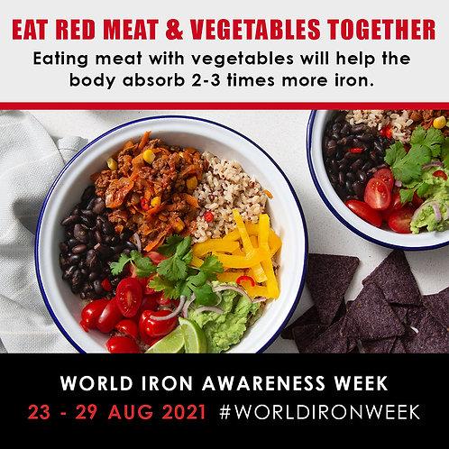 Eat Red Meat & Veges Together