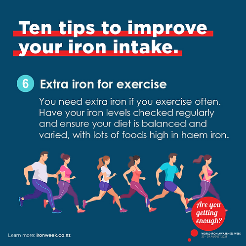 Extra iron for exercise