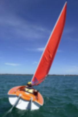 Sail boat on lake