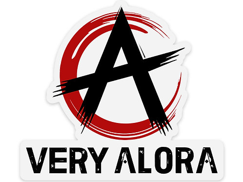 Very Alora Clear Sticker  4""