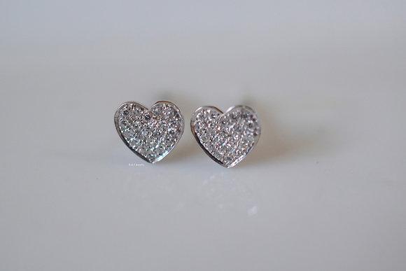 Diamond Heart Studs