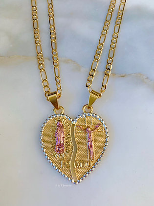 Religious Breakable Heart Necklace