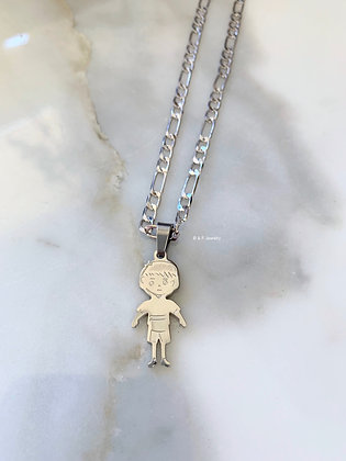 Little Boy Or Girl Pendant With Chain
