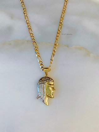 Bicolor Jesus Necklace