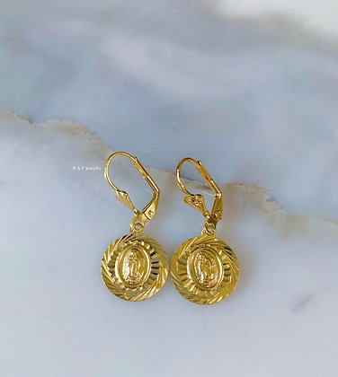 Virgin Mary Dangle Earrings