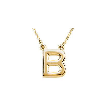 Any Color 14K Gold Initial Necklace- Has Earrings