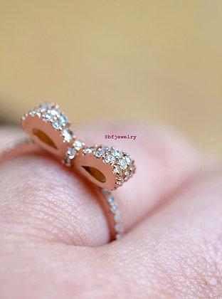 14K Rose Gold Diamond Bow Ring