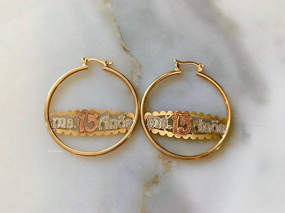 Quinceanera Hoop Earrings