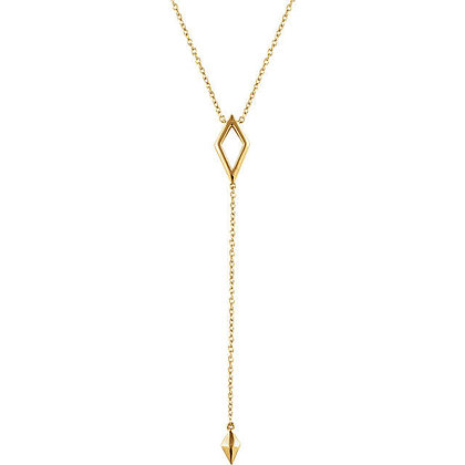 Any Color 14K Gold Geometric Y Necklace