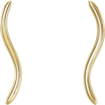 Any Color 14K Gold Ear Climber