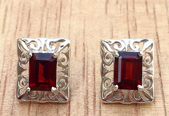 4 Carat Garnet Earrings