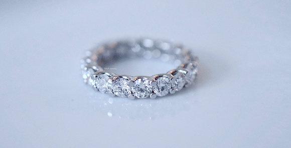 3.98 Carat Round Diamond Eternity Band