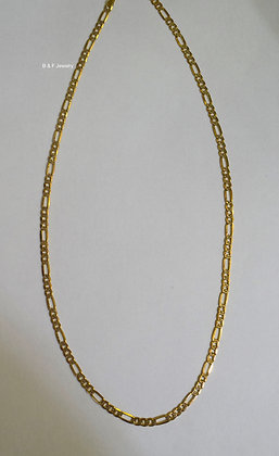 14K Gold Diamond-Cut Figaro Chain
