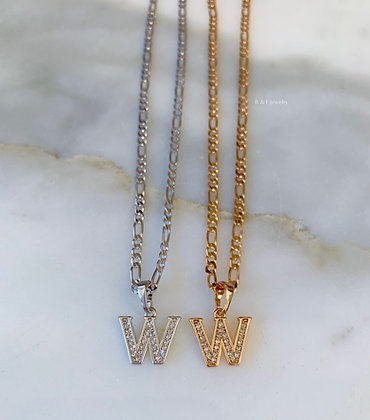 Bling Initial Necklace
