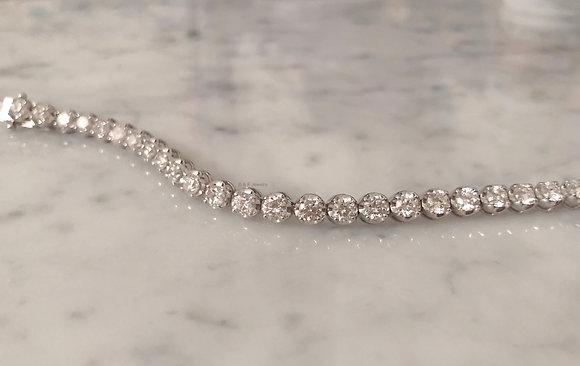 6.47 Carat Diamond Tennis Bracelet