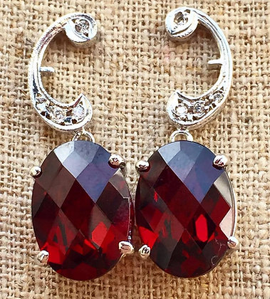 Diamond And Garnet earrings